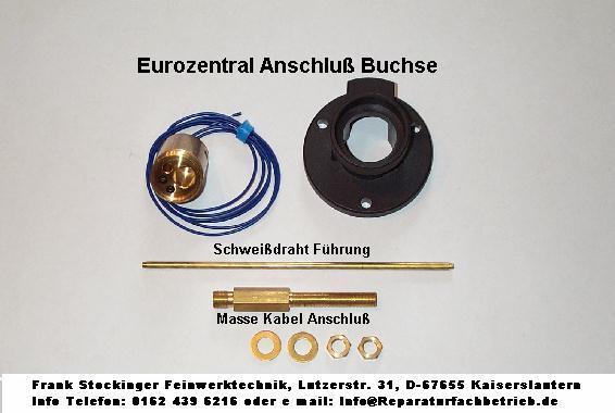 Reparatur Set Eurozental Anschluß Buchse für MIG MAG Schutzgasschweißgerät.