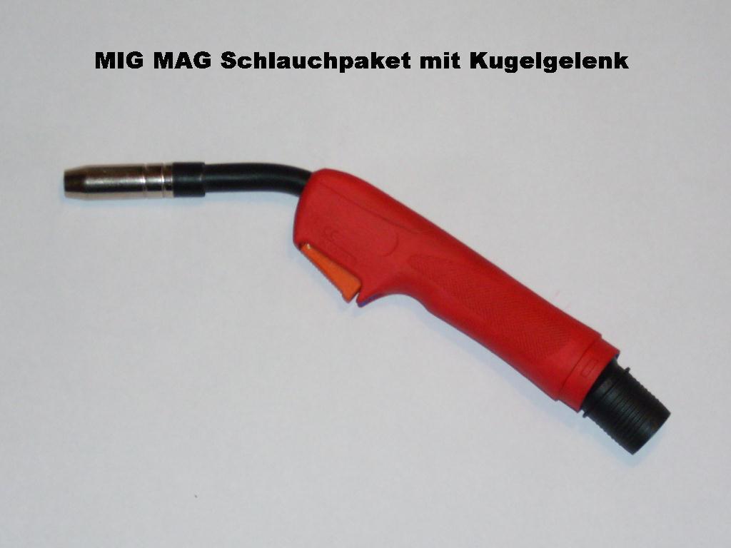 Industrie Schutzgasschlauchpaket mit Kugelgelenk Handgriff für mehr Beweglichkeit.