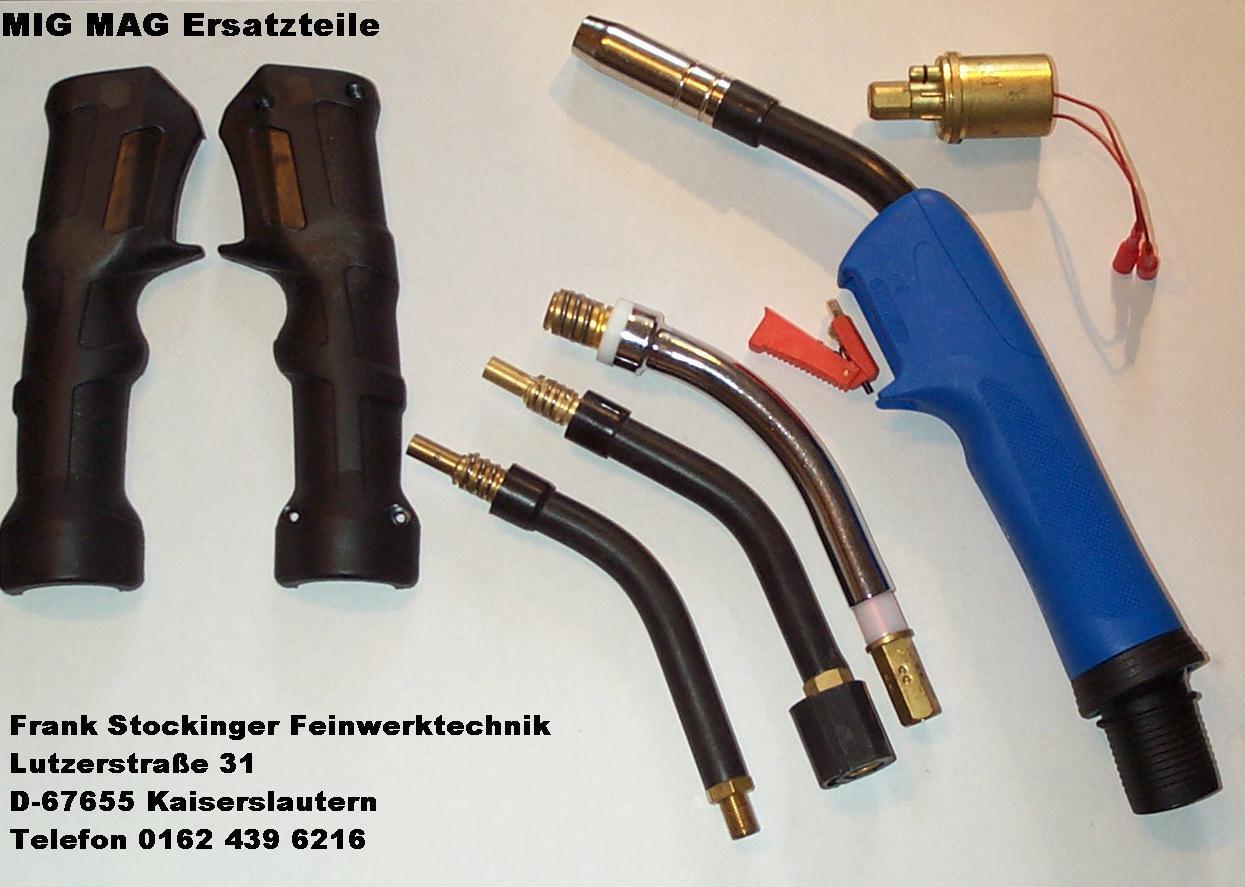 Ersatzteile und Verschleißteile für MIG MAG Schutzgas Schweißgerät.